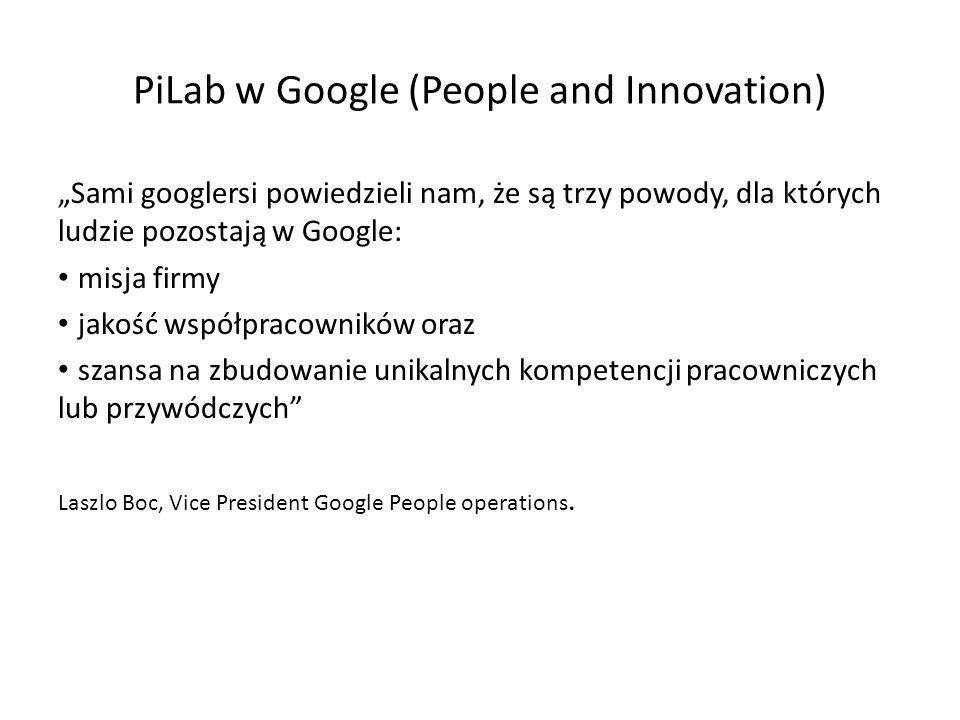 PiLab w Google (People and Innovation)