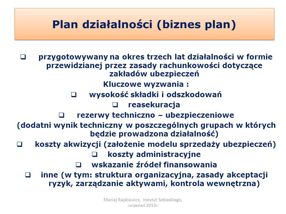 Plan działalności (biznes plan)