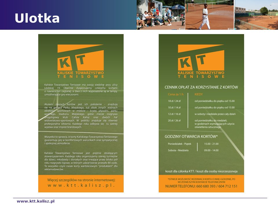 Ulotka www.ktt.kalisz.pl