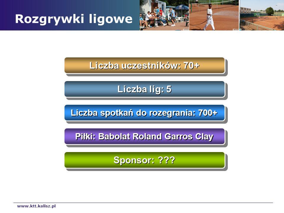 Liczba spotkań do rozegrania: 700+ Piłki: Babolat Roland Garros Clay