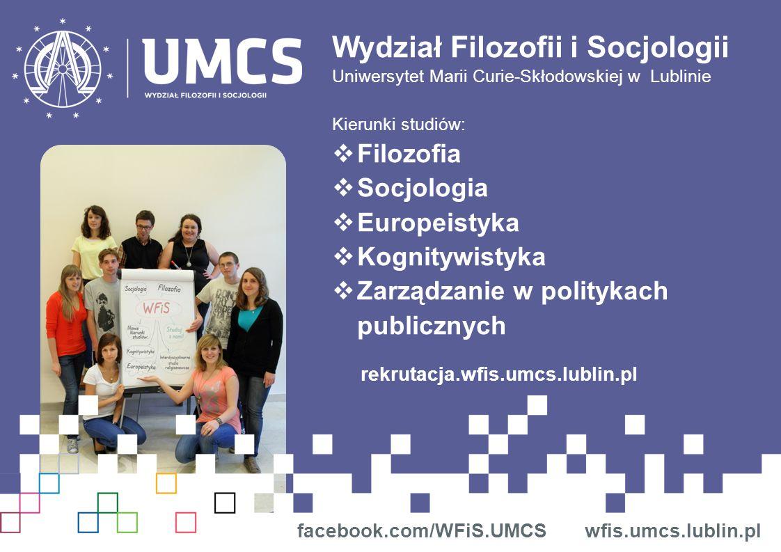 Wydział Filozofii i Socjologii