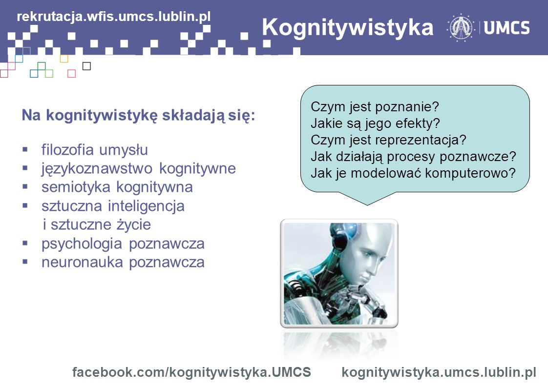 Kognitywistyka rekrutacja.wfis.umcs.lublin.pl Czym jest poznanie