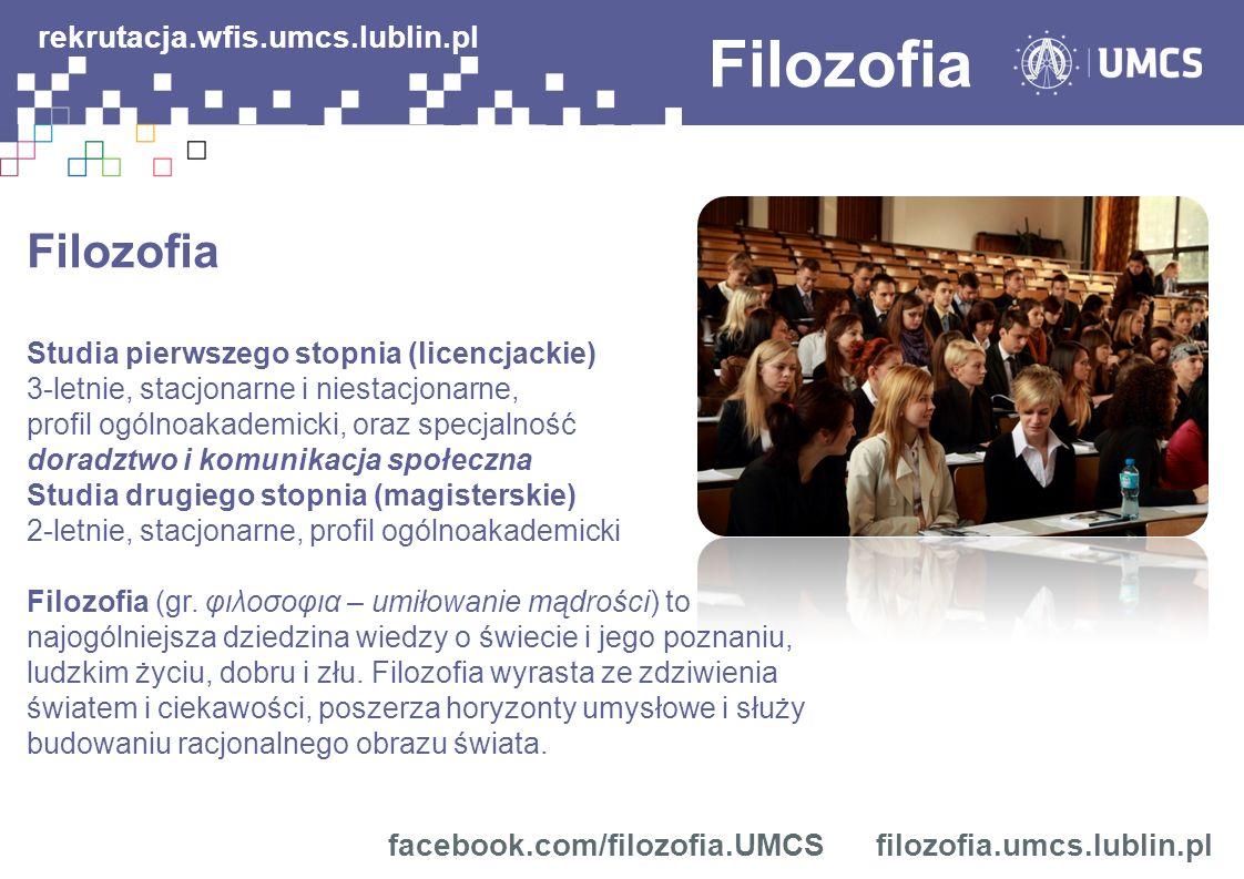 Filozofia rekrutacja.wfis.umcs.lublin.pl Filozofia
