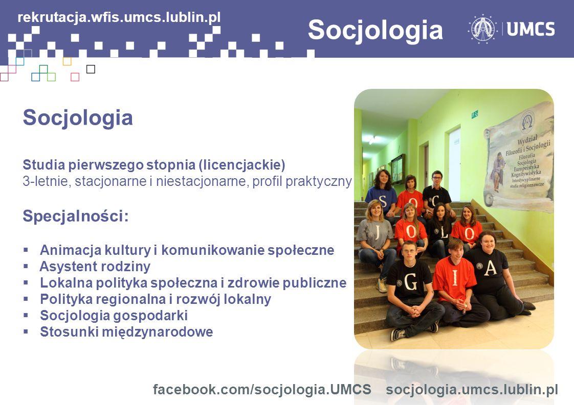 Socjologia rekrutacja.wfis.umcs.lublin.pl Socjologia