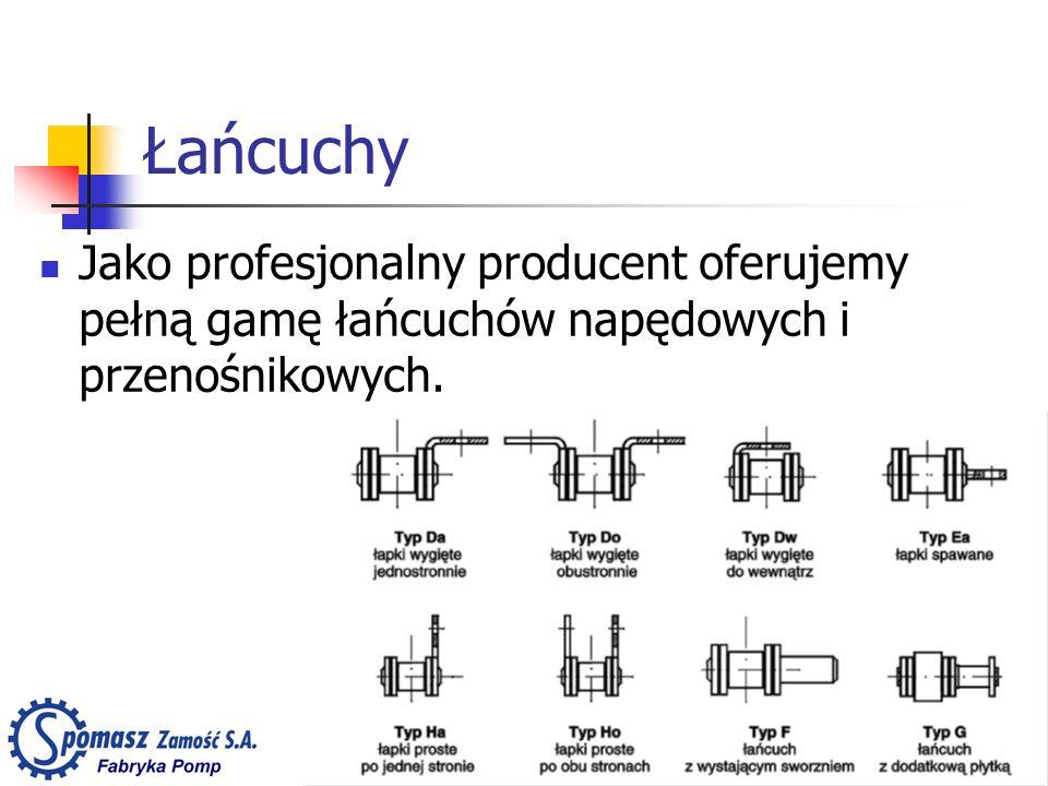 Łańcuchy Jako profesjonalny producent oferujemy pełną gamę łańcuchów napędowych i przenośnikowych.