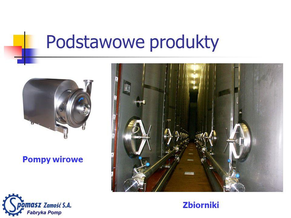 Podstawowe produkty Pompy wirowe Zbiorniki