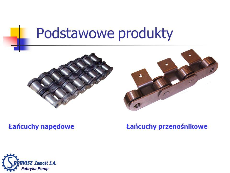 Podstawowe produkty Łańcuchy napędowe Łańcuchy przenośnikowe