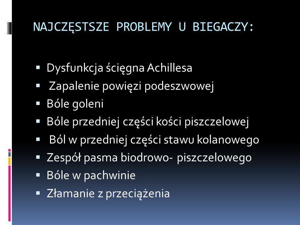 NAJCZĘSTSZE PROBLEMY U BIEGACZY: