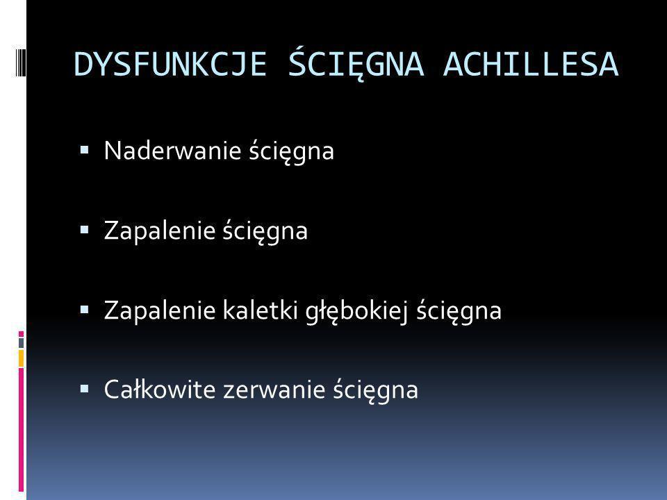 DYSFUNKCJE ŚCIĘGNA ACHILLESA