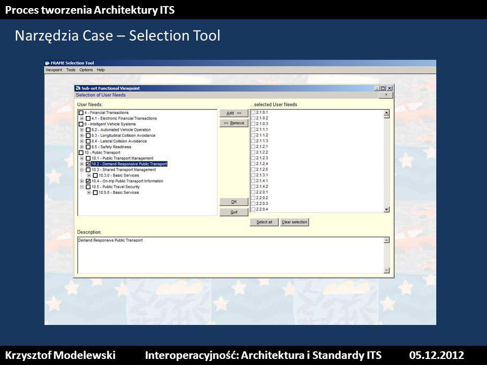 Narzędzia Case – Selection Tool