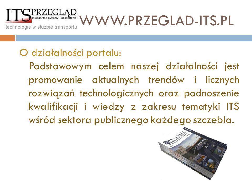 www.przeglad-its.pl O działalności portalu: