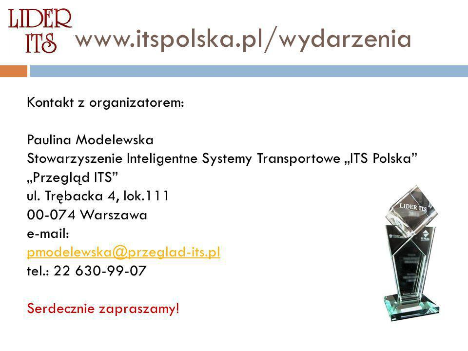 wwwww.itspolska.pl/wydarzenia Kontakt z organizatorem: