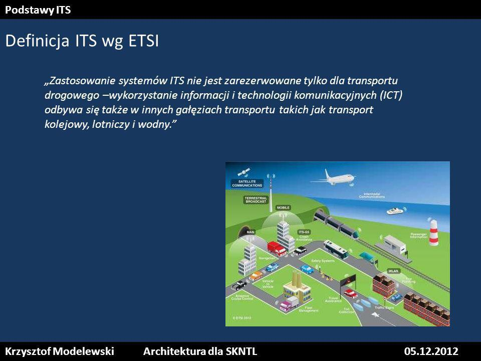 Definicja ITS wg ETSI Podstawy ITS