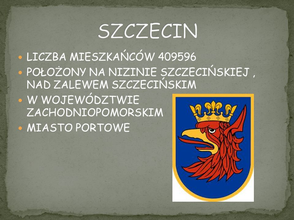 SZCZECIN LICZBA MIESZKAŃCÓW 409596
