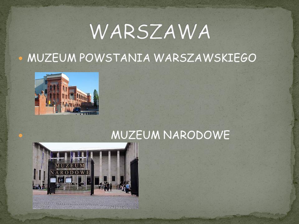 WARSZAWA MUZEUM POWSTANIA WARSZAWSKIEGO MUZEUM NARODOWE