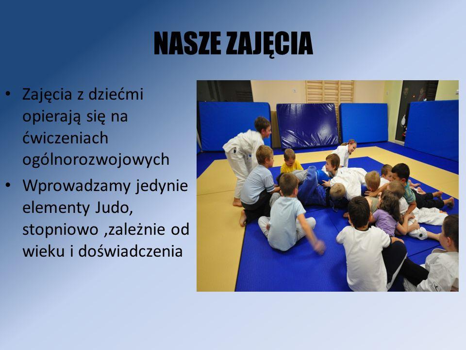 NASZE ZAJĘCIA Zajęcia z dziećmi opierają się na ćwiczeniach ogólnorozwojowych.
