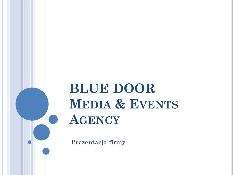 BLUE DOOR Media & Events Agency