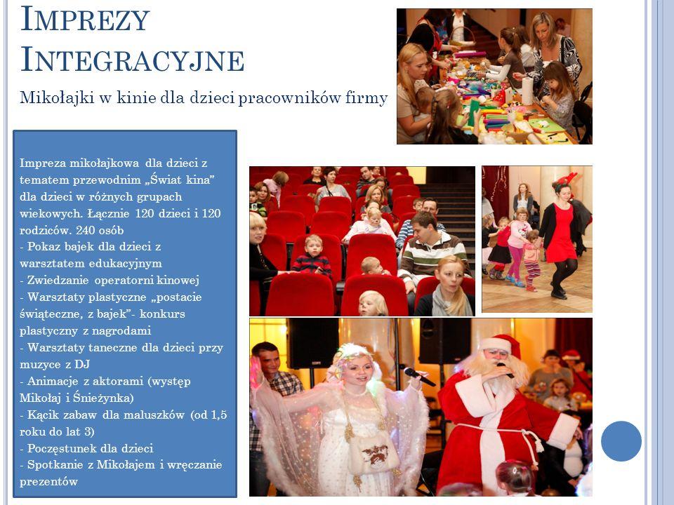 Imprezy Integracyjne Mikołajki w kinie dla dzieci pracowników firmy