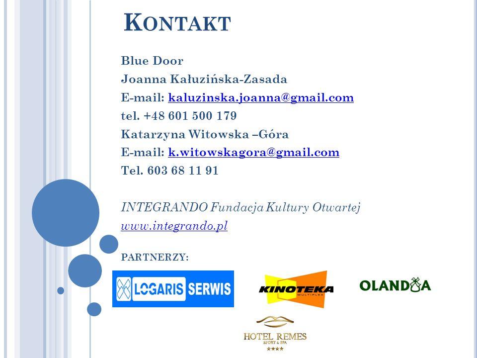 Kontakt Blue Door Joanna Kałuzińska-Zasada