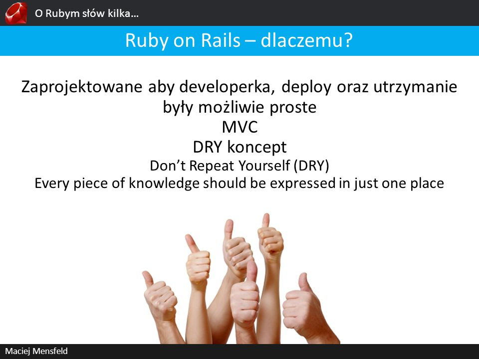 Ruby on Rails – dlaczemu
