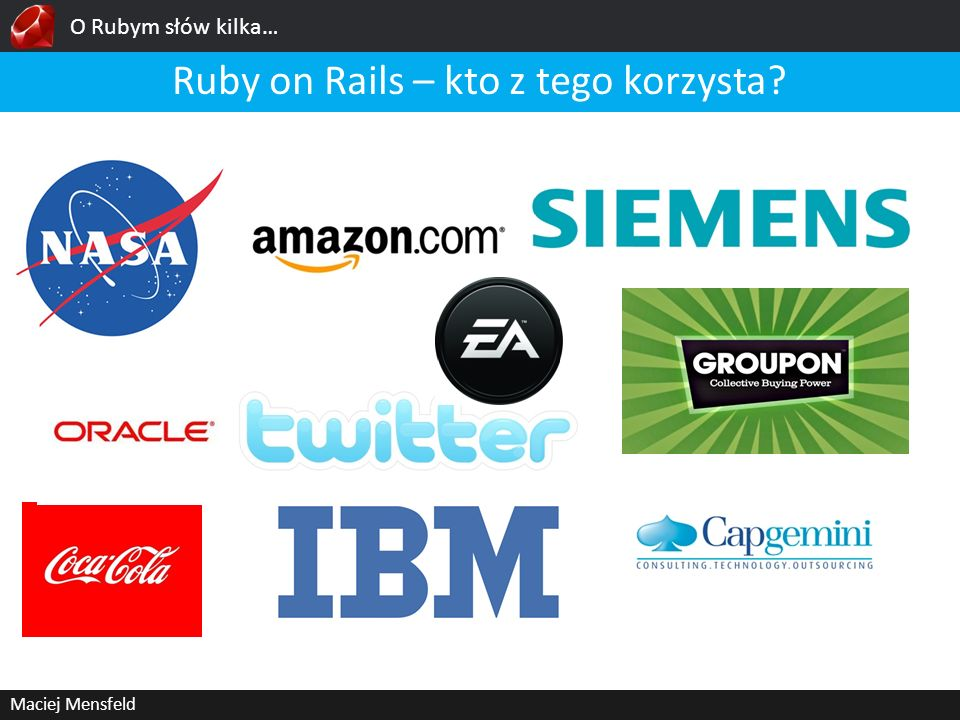 Ruby on Rails – kto z tego korzysta