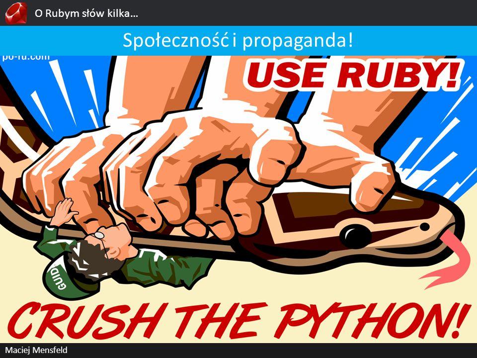 Społeczność i propaganda!