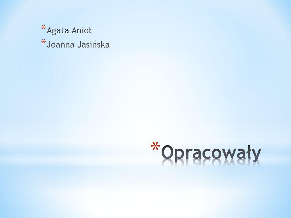 Agata Anioł Joanna Jasińska Opracowały