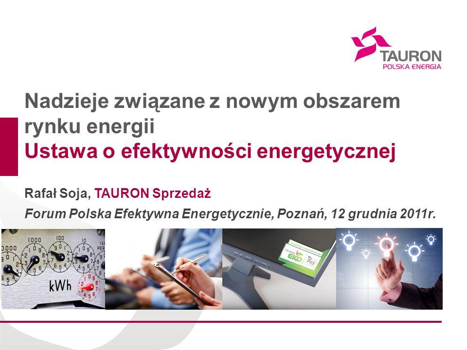 Nadzieje związane z nowym obszarem rynku energii
