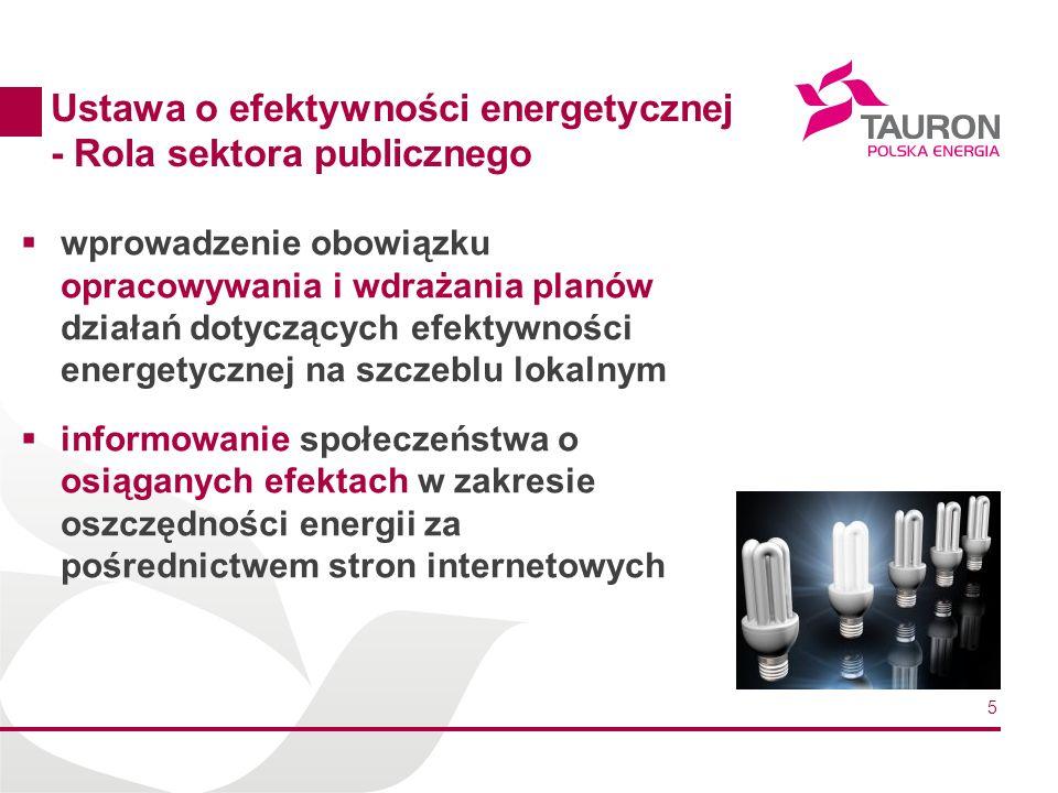 Ustawa o efektywności energetycznej - Rola sektora publicznego