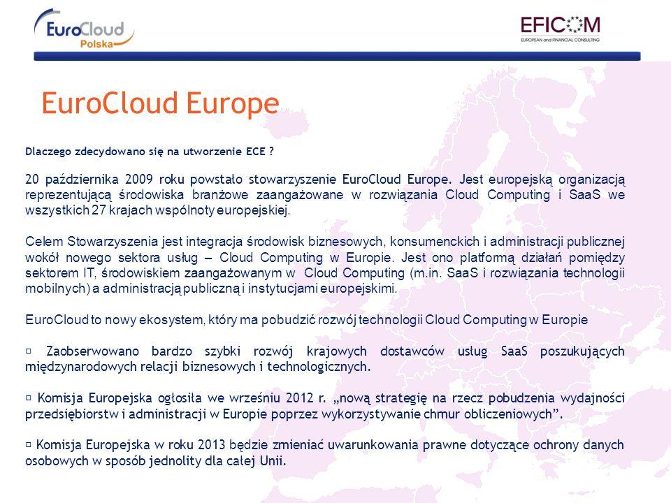 EuroCloud Europe Dlaczego zdecydowano się na utworzenie ECE