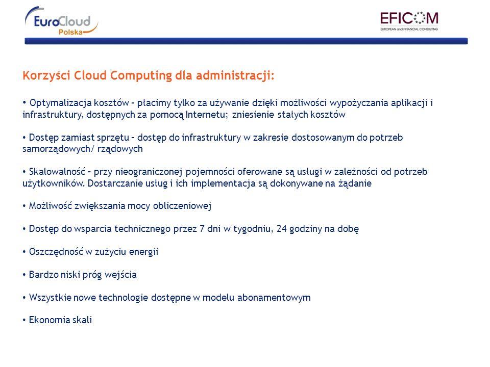 Korzyści Cloud Computing dla administracji: