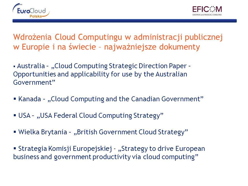Wdrożenia Cloud Computingu w administracji publicznej w Europie i na świecie – najważniejsze dokumenty