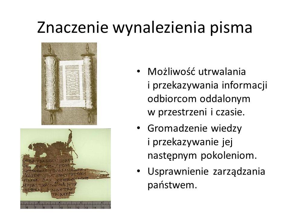 Znaczenie wynalezienia pisma