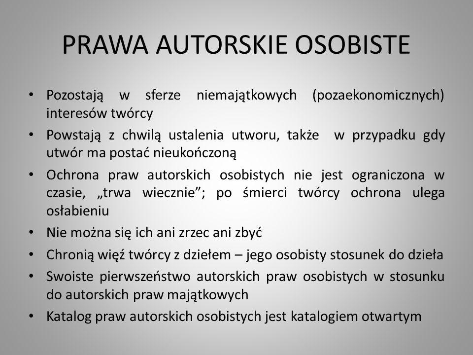 PRAWA AUTORSKIE OSOBISTE