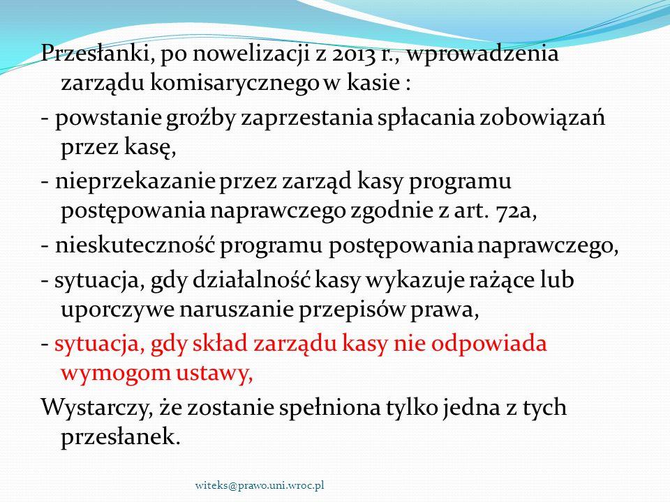 Przesłanki, po nowelizacji z 2013 r