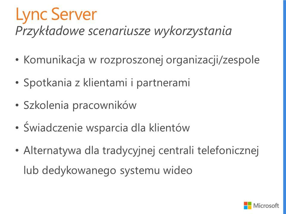 Lync Server Przykładowe scenariusze wykorzystania