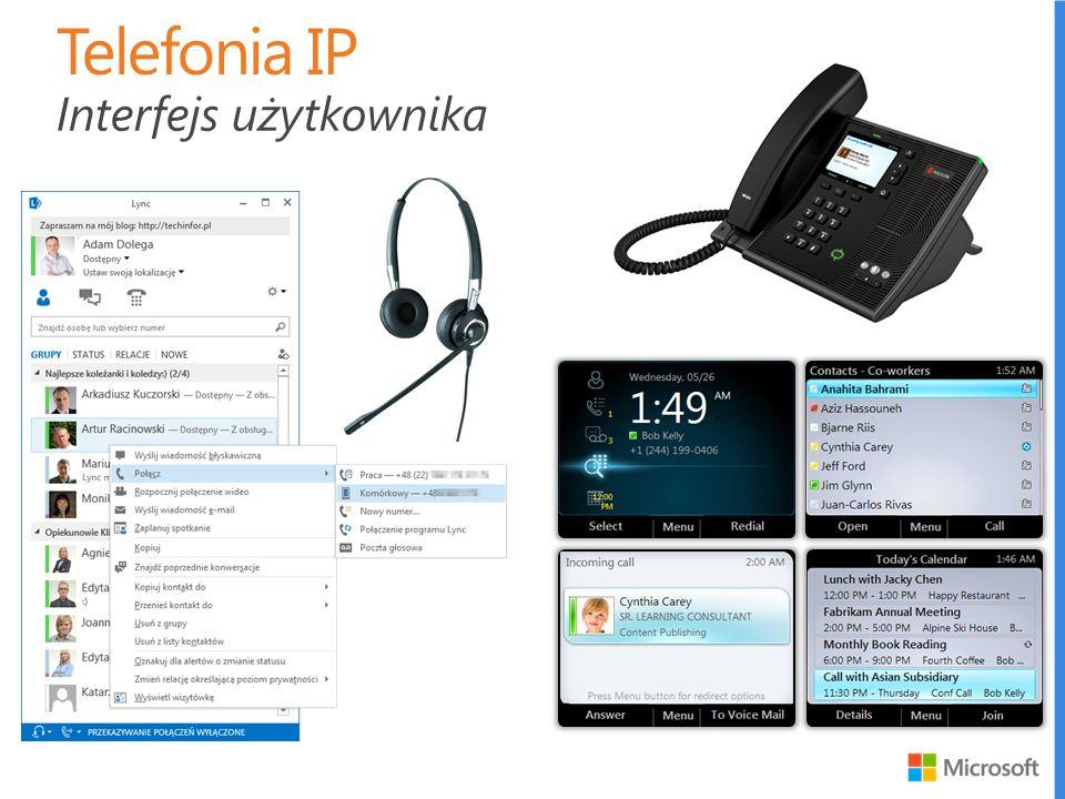 Telefonia IP Interfejs użytkownika