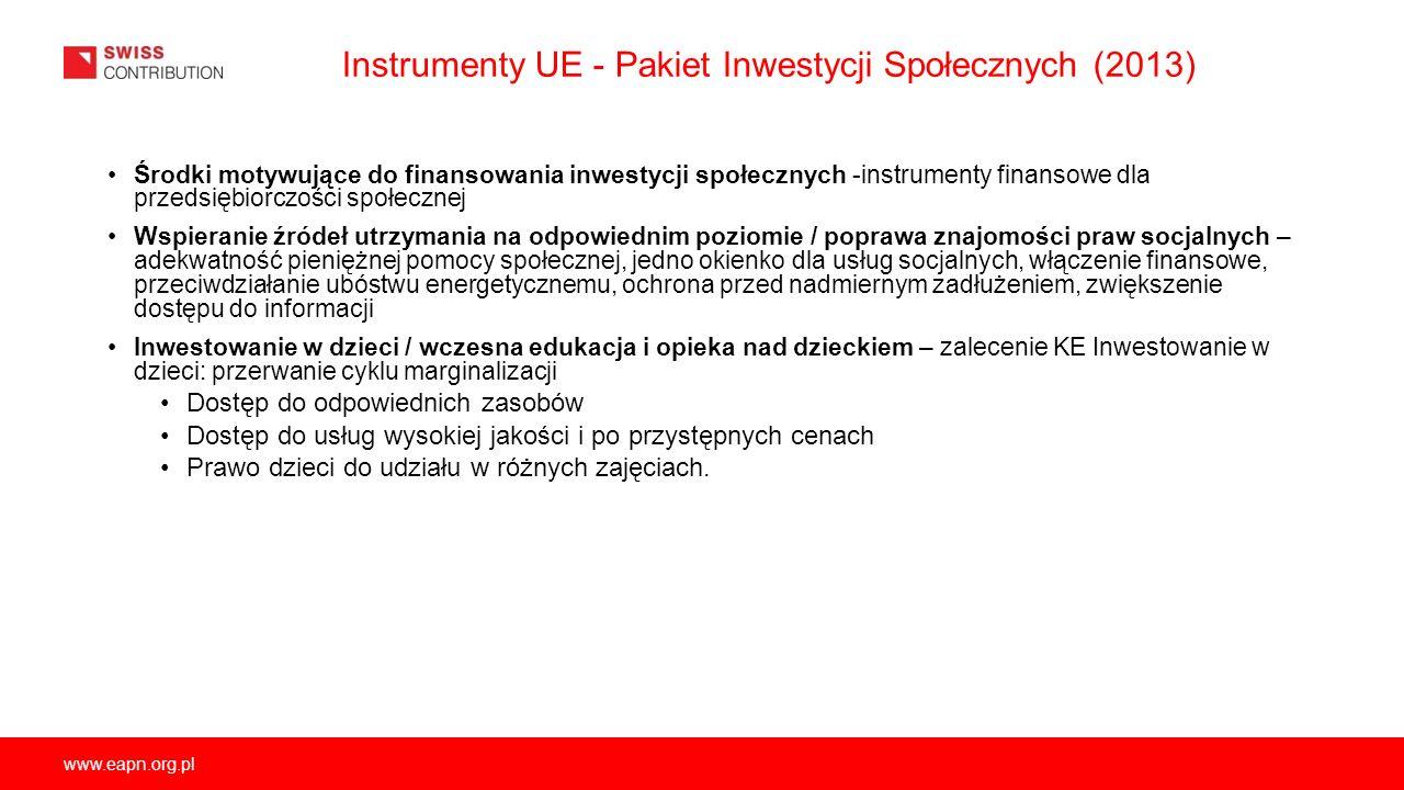 Instrumenty UE - Pakiet Inwestycji Społecznych (2013)