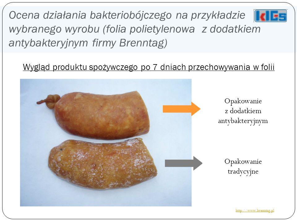 Ocena działania bakteriobójczego na przykładzie wybranego wyrobu (folia polietylenowa z dodatkiem antybakteryjnym firmy Brenntag)
