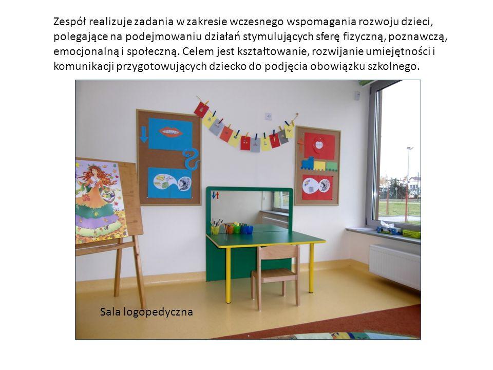 Zespół realizuje zadania w zakresie wczesnego wspomagania rozwoju dzieci, polegające na podejmowaniu działań stymulujących sferę fizyczną, poznawczą, emocjonalną i społeczną. Celem jest kształtowanie, rozwijanie umiejętności i komunikacji przygotowujących dziecko do podjęcia obowiązku szkolnego.