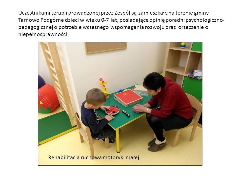 Uczestnikami terapii prowadzonej przez Zespół są zamieszkałe na terenie gminy Tarnowo Podgórne dzieci w wieku 0-7 lat, posiadające opinię poradni psychologiczno-pedagogicznej o potrzebie wczesnego wspomagania rozwoju oraz orzeczenie o niepełnosprawności.