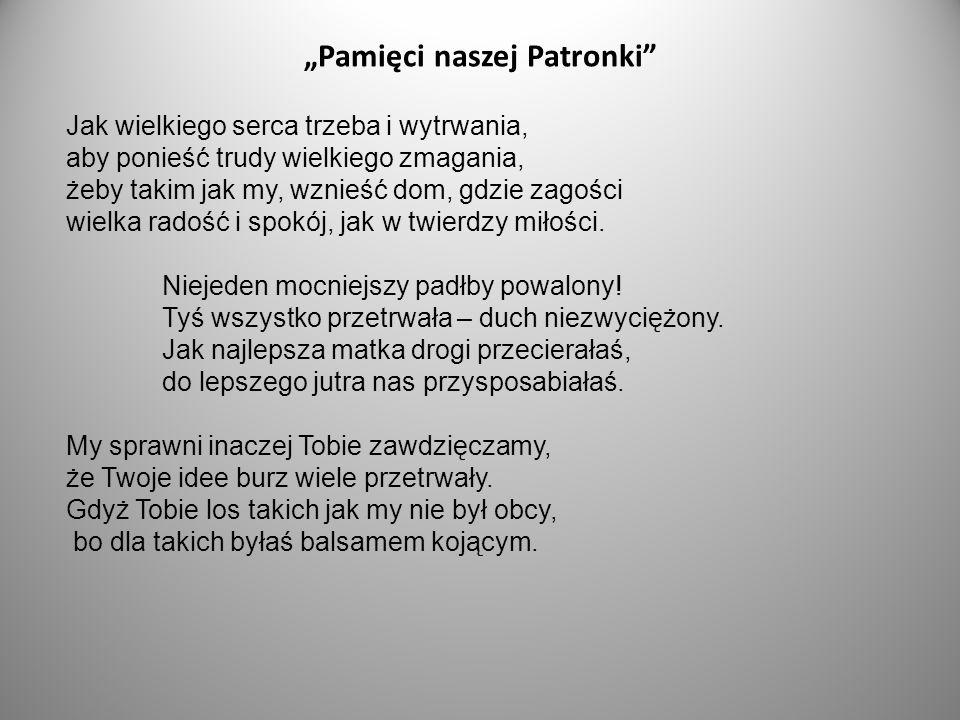 """""""Pamięci naszej Patronki"""