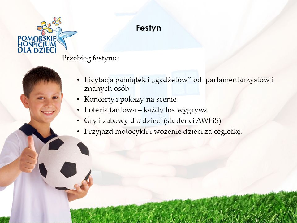 Festyn Przebieg festynu: