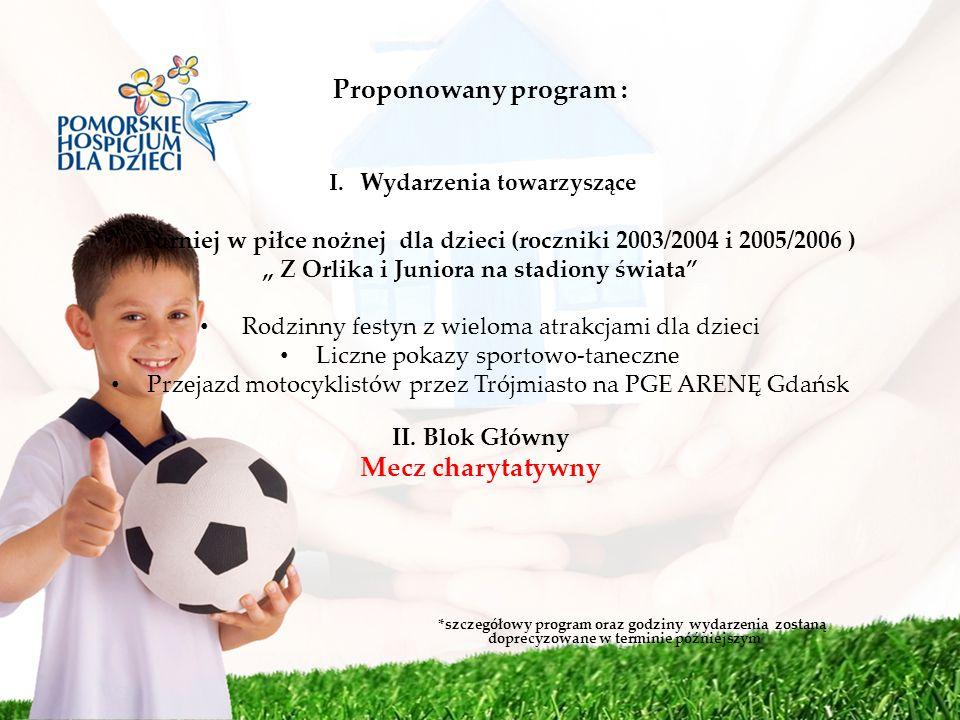 Proponowany program : Mecz charytatywny
