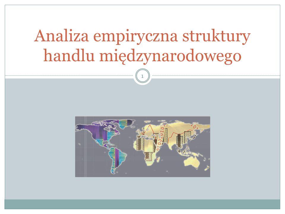 Analiza empiryczna struktury handlu międzynarodowego