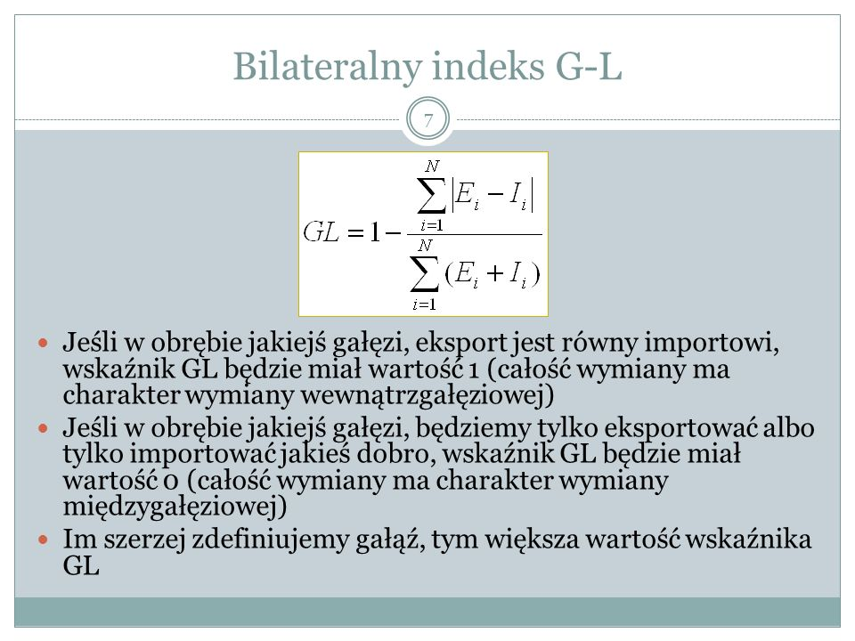 Bilateralny indeks G-L