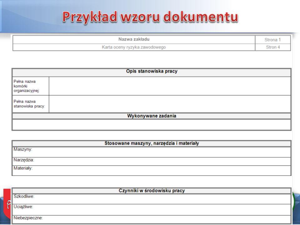 Przykład wzoru dokumentu