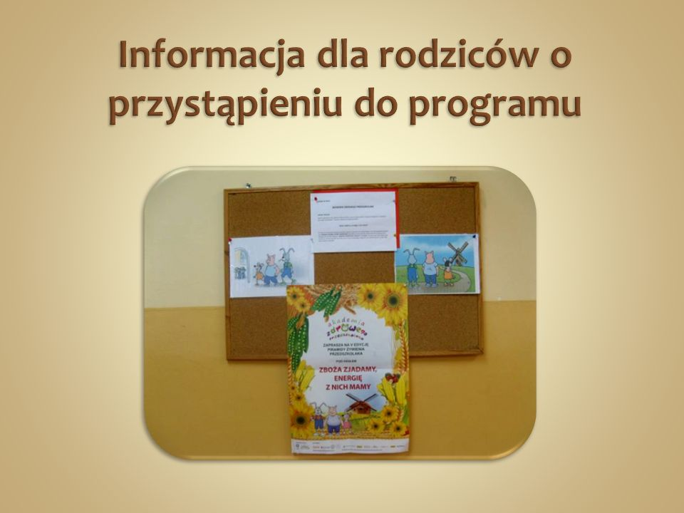 Informacja dla rodziców o przystąpieniu do programu