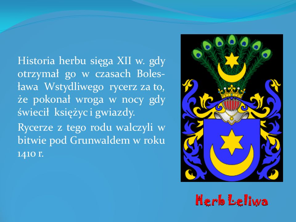 Historia herbu sięga XII w