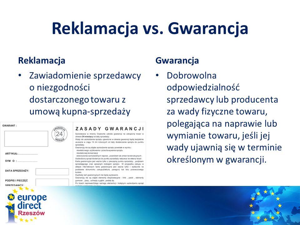 Reklamacja vs. Gwarancja